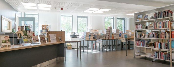 Biblioteket Lillehammer videregående skole, avdeling Nord - Klikk for stort bilde